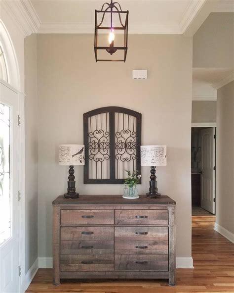 rustic classic entryway decor neutral paint color