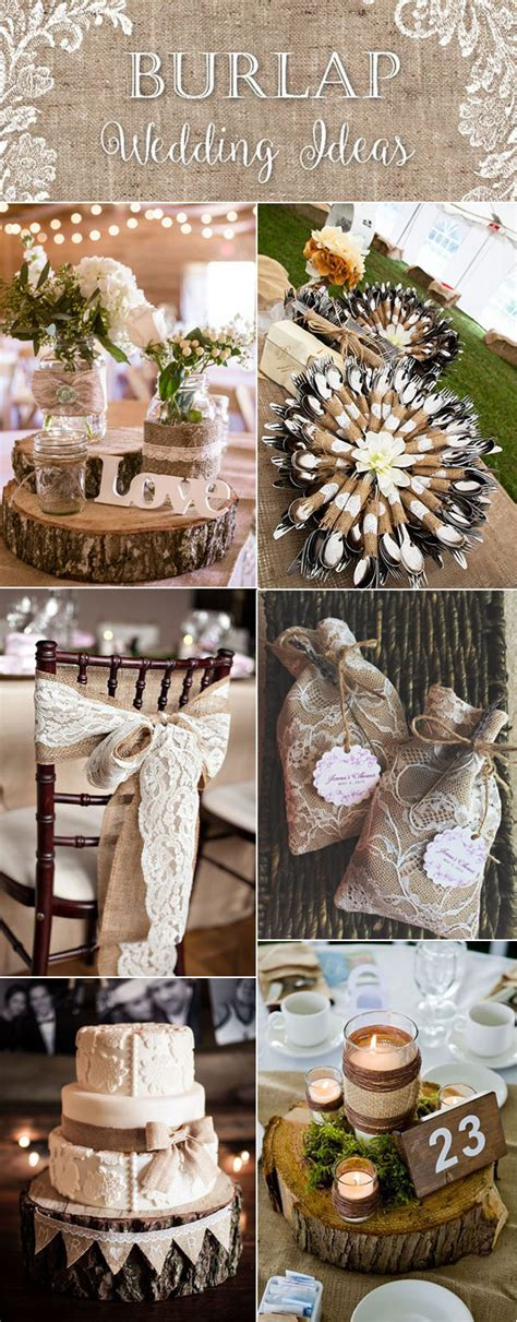 top 20 country rustic lace burlap wedding ideas