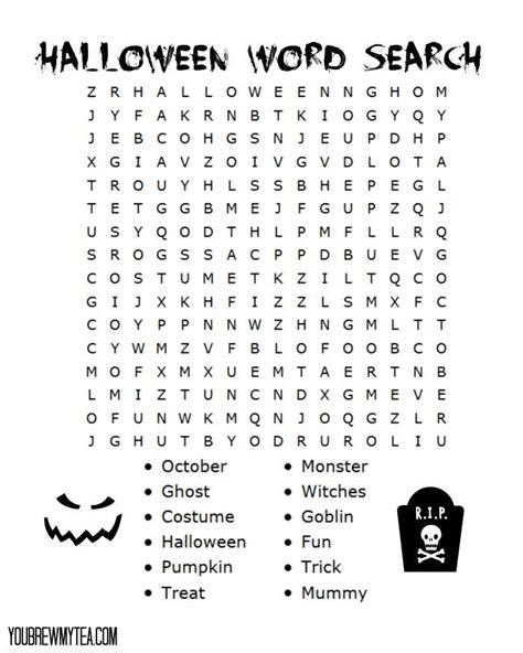 free printable halloween word search halloween word search
