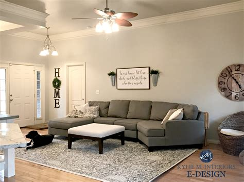 sherwin williams agreeable gray living room gray sectional
