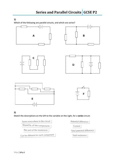 12 images series parallel circuit worksheet series parallel