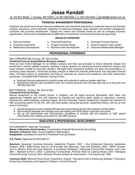resume financial analyst format amazing finance exles livecareer