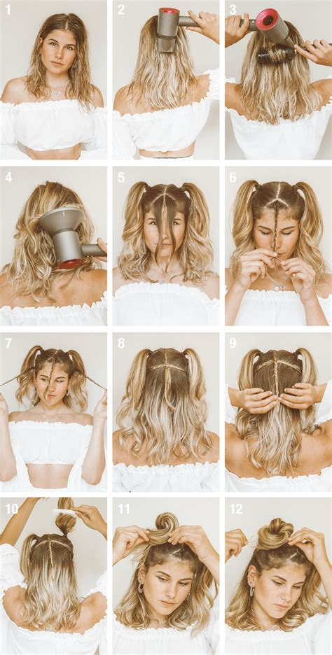 tutorial quick easy festival hairstyle short hair thefashionfraction