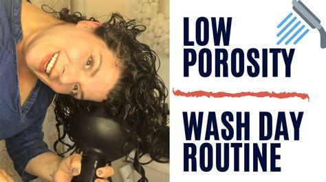 porosity wash day routine curly girl method youtube