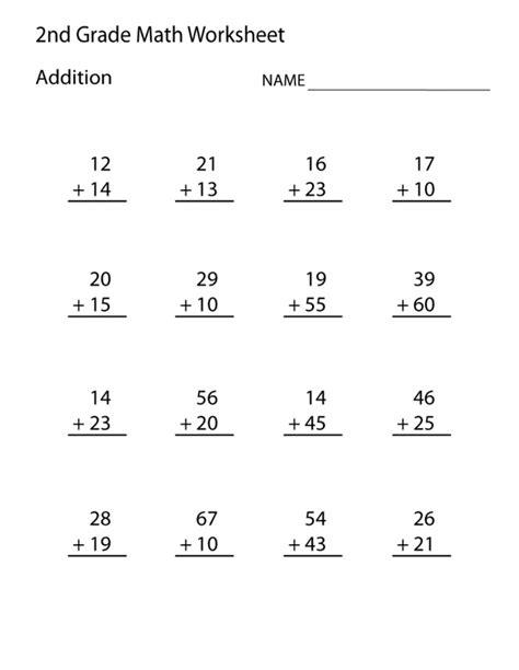 2nd grade worksheets free printable math worksheets 2nd