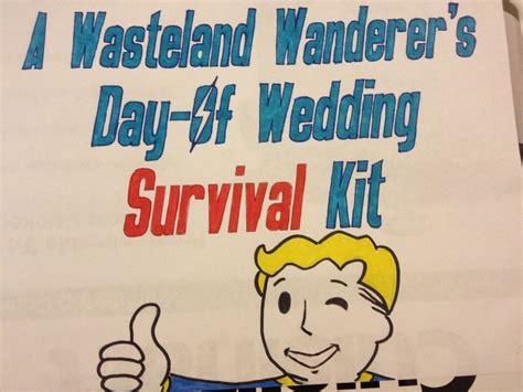 fallout themed wedding day survival kit gamer geek