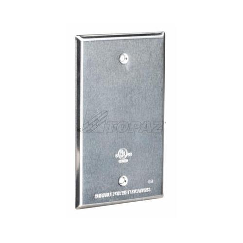 Topaz WC1BB Single Gang Weatherproof Covers, Blank, Bronze, Aluminum,  Rectangle