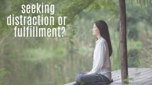 Seeking distraction or fulfillment?