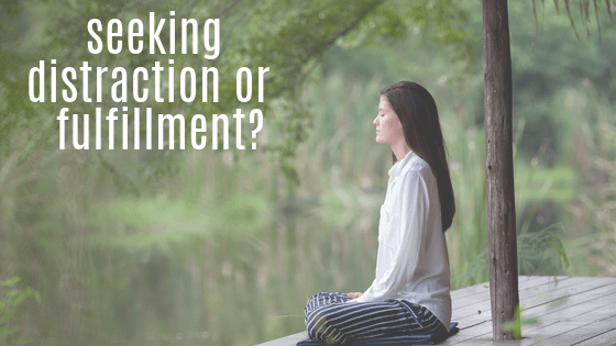 You are currently viewing Seeking distraction or fulfillment?