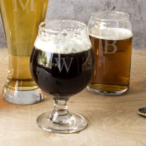 Personalized 16 oz. Belgian Beer Glasses (Set of 4) - See more at: http://taylorstreetfavors.com/wedding-receptions/tabletop/flutes-glassware/personalized-16-oz-belgian-beer-glasses-set-of-4/#sthash.Nfarioyt.dpuf