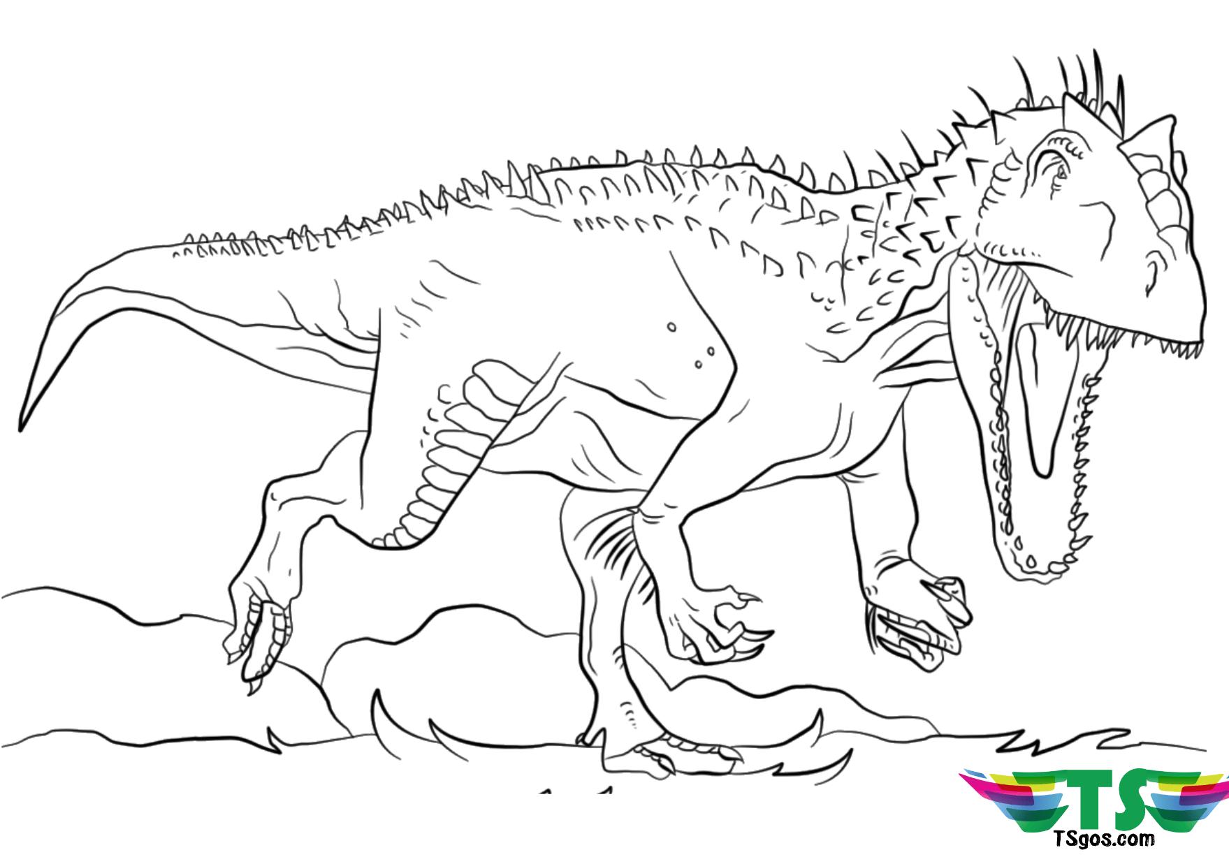 Dinosaur Tyrannosaurus Rex Coloring Page