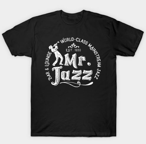 Vintage Jazz Club Style T-Shirt