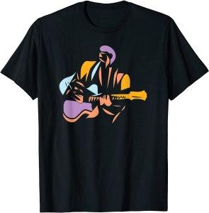 Guitarist Modern Abstract Style T-Shirt
