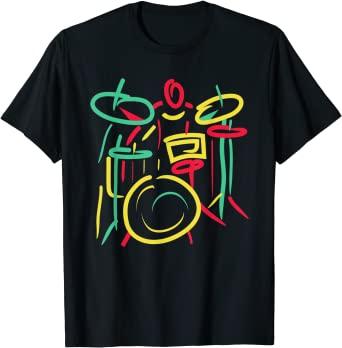 Fancy Drums Player Modern Art T-Shirt