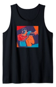 Abstract Trumpeter Tank Top