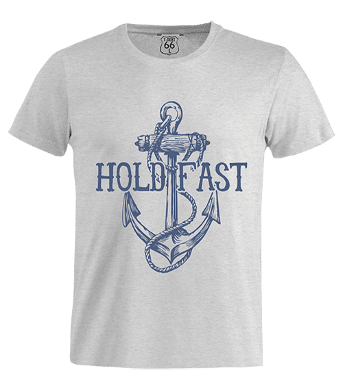 T-Shirt 66 - Hold Fast man grey
