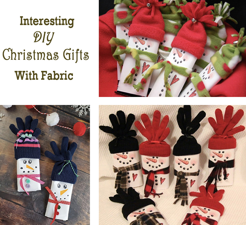 DIY Christmas gifts with fabric 1