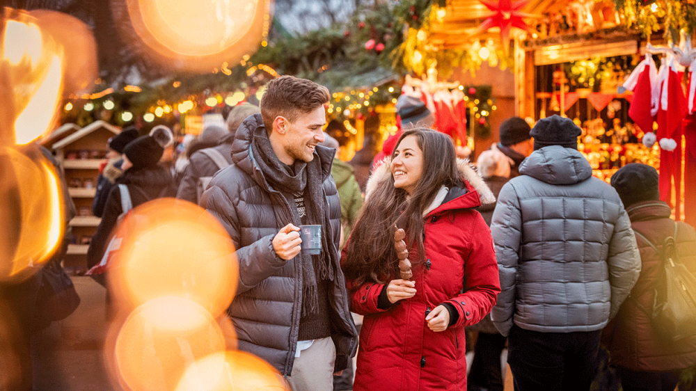 Going to a romantic Christmas market is always the top choice for couples christmas activities