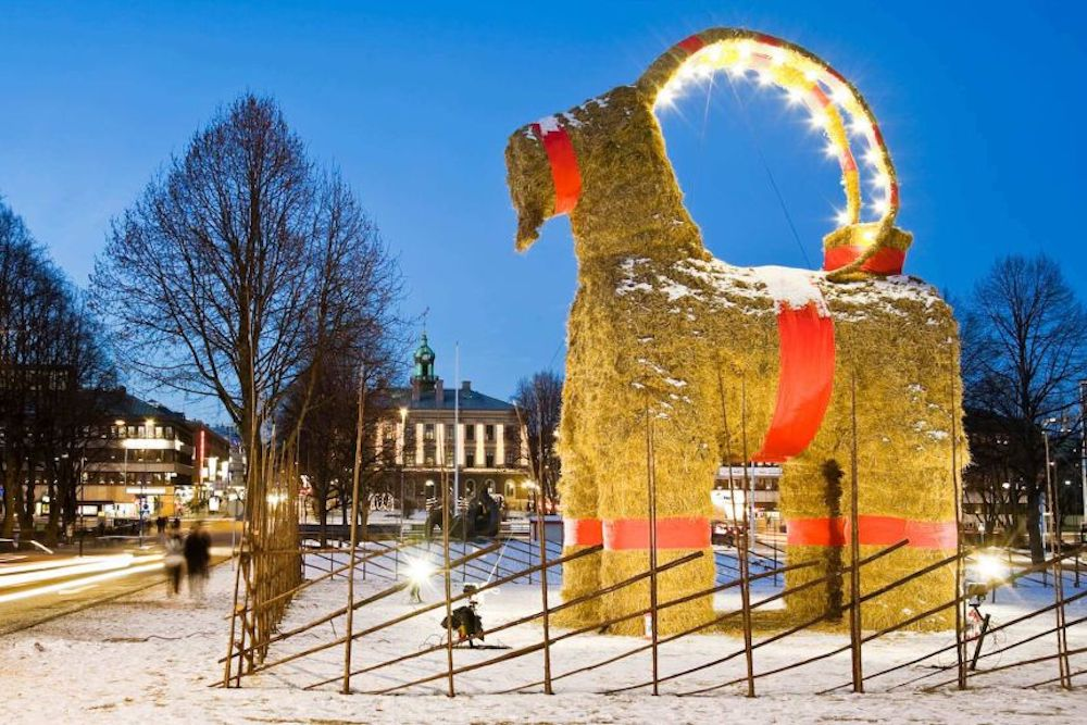 Sweden's Gävle Goat has been an annual Christmas tradition