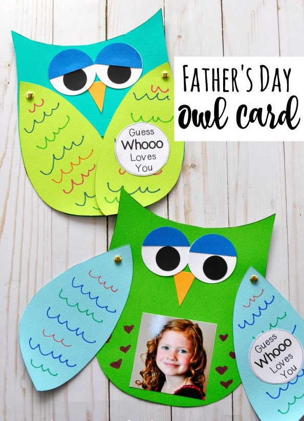 A Father Day Kids Craft Owl Card great DIY Fathers day cards