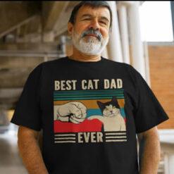 Best Cat Dad Ever Shirt Vintage Cat Dad First Pump