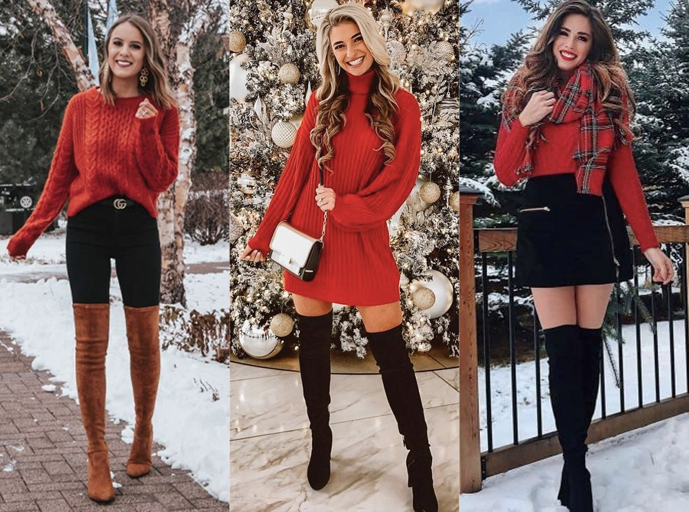 Get you in the holiday spirit with gorgeous Christmas outfits