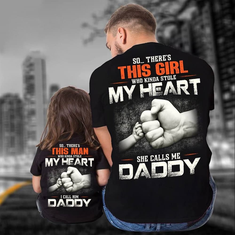 Daddy And Daughter Shirt Who Kindda Stole My Heart