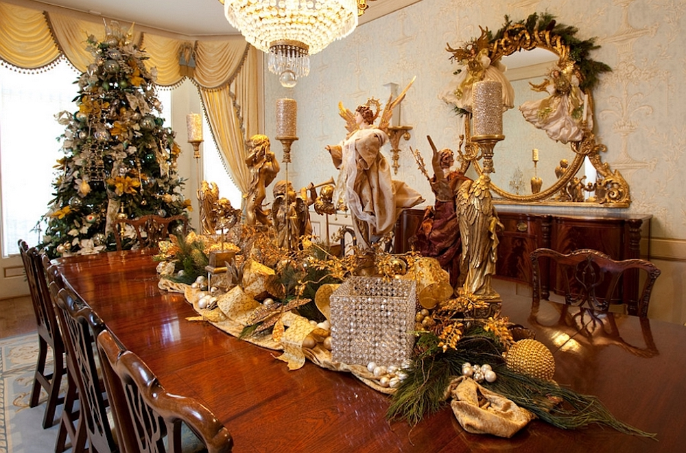 Christmas room decor ideas for the dining room will make your family dinners even more magical