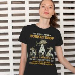 WKRP Turkey Drop Shirt As God Is My Witness Thanksgiving Shirt