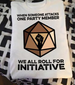Dungeon And Dragon Shirt We Roll For Initiative