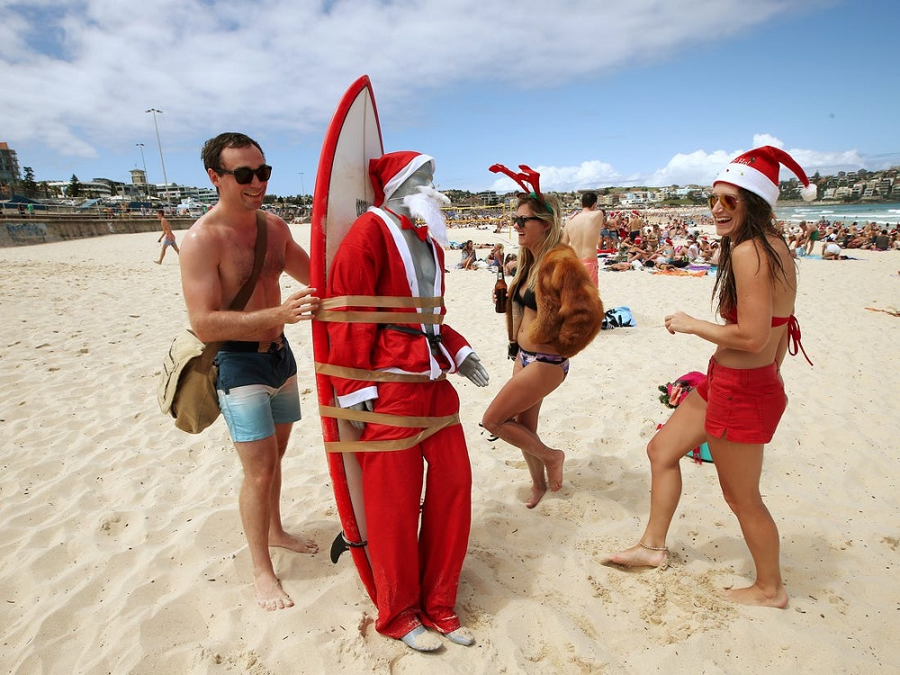why christmas is celebrated in australia in summer
