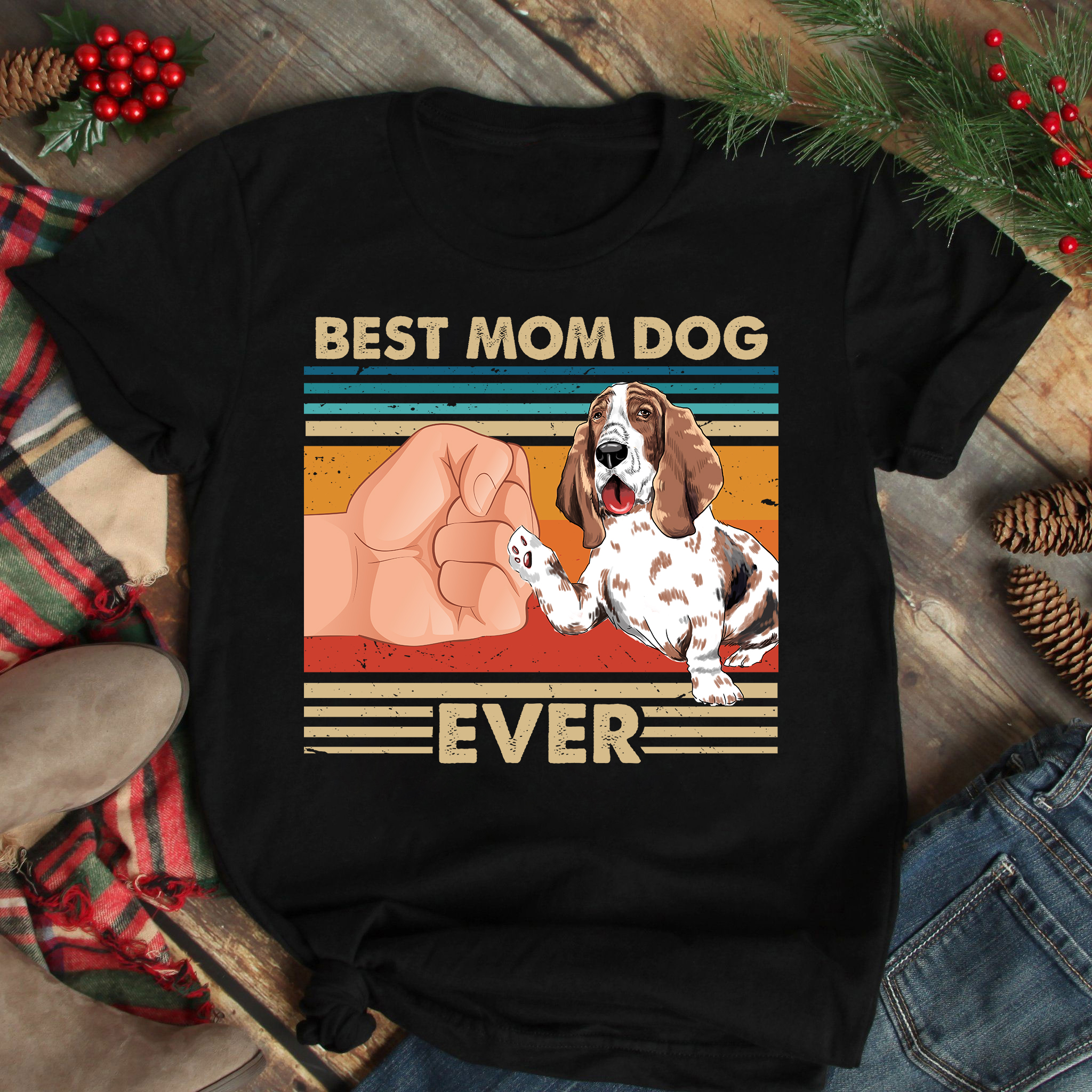Best Mom Ever Shirt Vintage Best Basset Hound Dog Ever