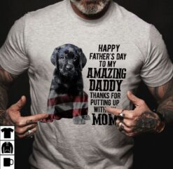 Black Labrador Shirt To My Amazing Dad American Flag