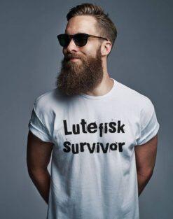 Funny Norway Shirt Lutefisk Survivors