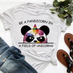 Funny Unicorn Shirt Be A Pandicorn In The Field Of Unicorns