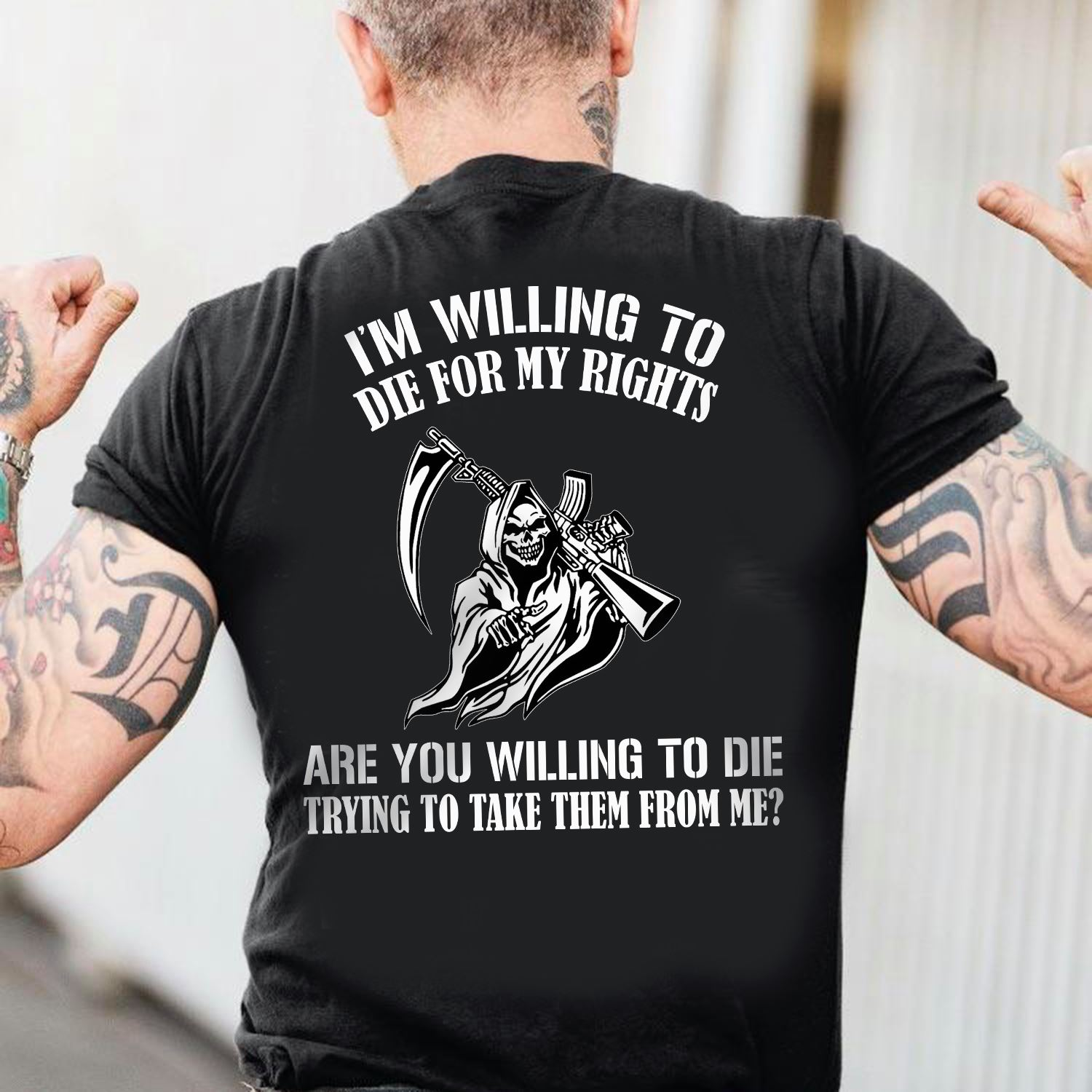 Grim Reaper Shirt I'm Willing To Die For My Rights