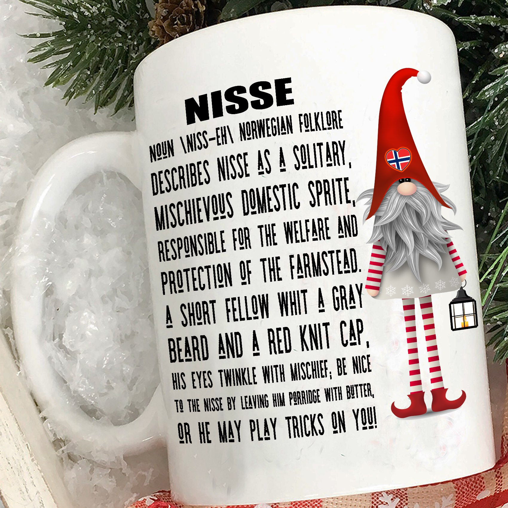 Norway Mug Gnome Nisse Describes Nisse As A Solitary