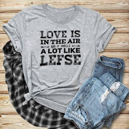 Norway-Shirt-Love-In-The-Air-It-Smell-Like-Lefse-great-gifts-for-norway-lovers