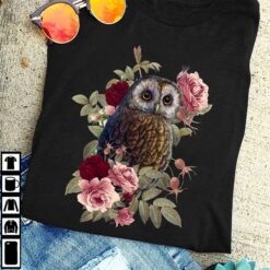 Owl Shirt Owl And Roses