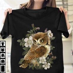 Owl Shirt Owl With Flowers