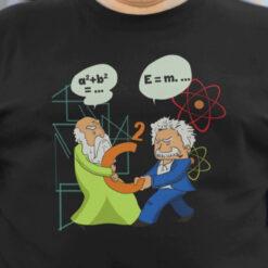 Scientist Shirt Pythagoras Fights Einstein Science Laboratory Promotion Video