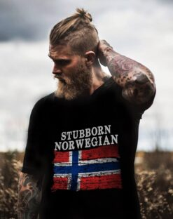 Stubborn Norway Shirt Norway Flag