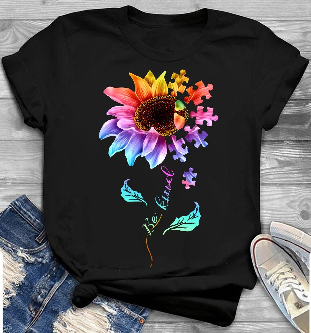 Sunflower Autism Shirt Be Kind