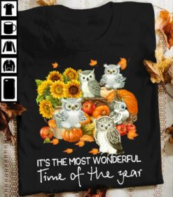 Halloween Owl Shirt It's The Most Wonderful Time Of The Year