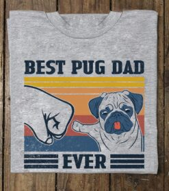 Vintage Pug Dad Shirt Best Pug Dad Ever Fathers Day Gift