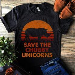 Vintage Save The Chubby Unicorn Shirt Rhino Conservation