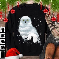 White Owl Shirt Snowy Owl With Snow