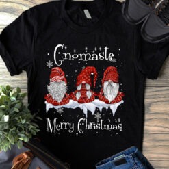 Yoga Shirt Gnomaste Merry Christmas