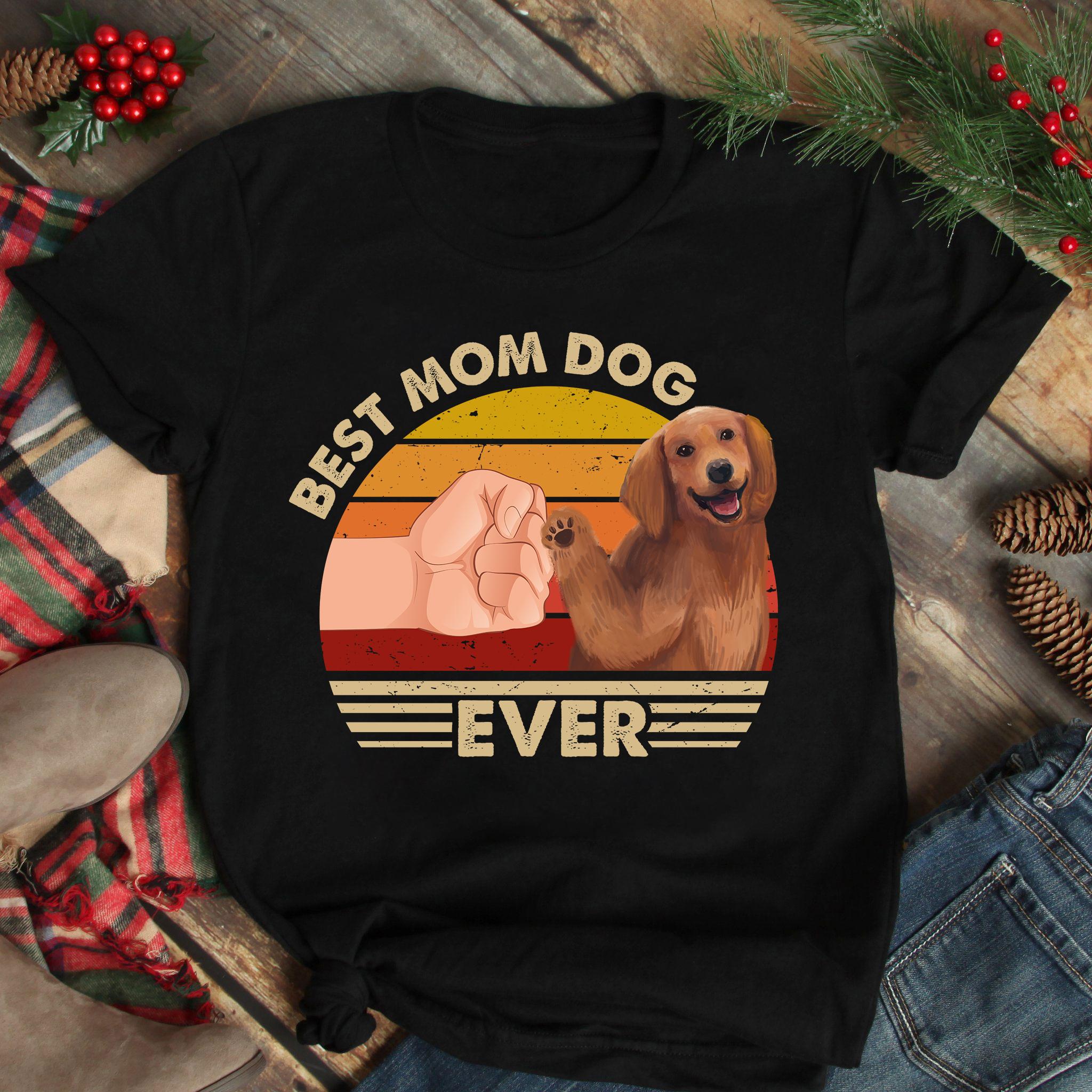 Best Mom Ever Shirt Vintage Best Golden Dog Mom Ever