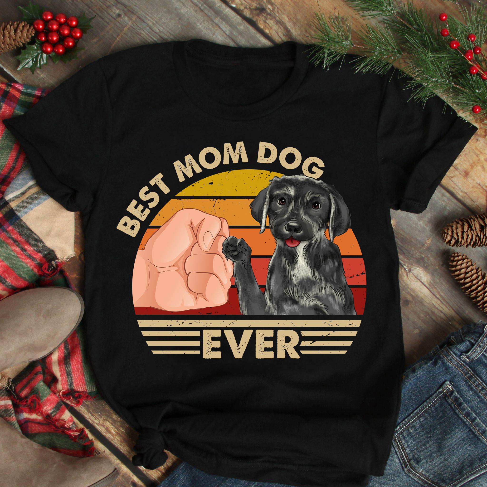 Best Mom Ever Shirt Vintage Best Mastador Dog Mom Ever
